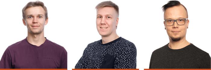 Tutustu uusiin triuvarelaisiin: Markus Peltomäki (vas.), Axel Näsi, Markus Lahelma