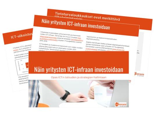 Lataa maksuton asiantuntijamateriaali: Näin yrityksissä investoidaan ICT-infraan